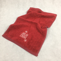 New Luxury Cotton Towel Red Stripe Snow Christmas Gift Towel Solid SPA Bathroom Terry Towels For