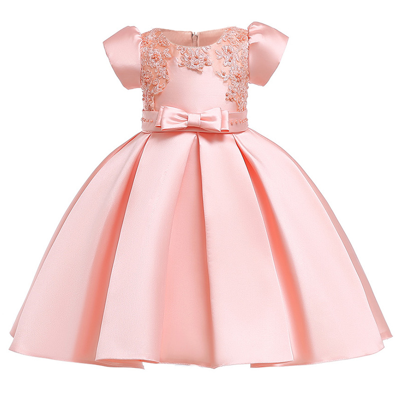 Children's party   dress     flower     girl     dresses   for weddings first communion   dresses   beaded short sleeve baby tutu costume L5073