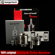 100% Original Kangertech Aerotank Turbo Atomizer Kanger Upgrade Dual Coil Clearomizer Aerotank Turbo Tank 6ml SSTank
