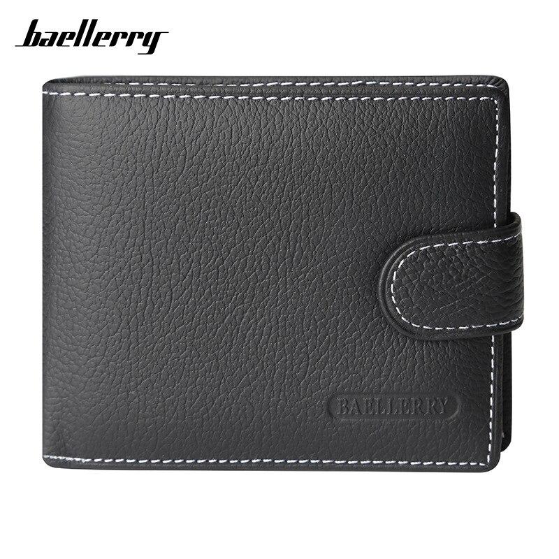 Baellerry Leder Männer Brieftaschen Feste Probe Stil Zipper Geldbörse Mann Karte Horder Leder Berühmte Marke Hohe Qualität Männlichen Brieftasche