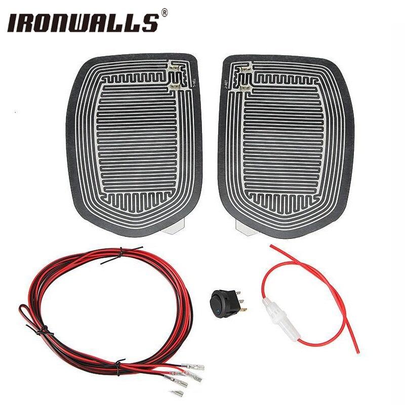 Ironwalls universal nuevo rápido caliente 12 V espejo lateral del coche vidrio calor climatizada calentador desempañador pad Esterillas para vehículos autos accesorios