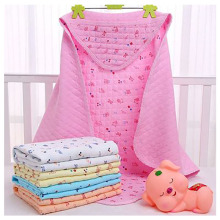 Baby Is Wrapped In Newborn Baby Four Seasons Care Head Cotton Baby Blanket Spring and Summer Supplies Sleeping Bags