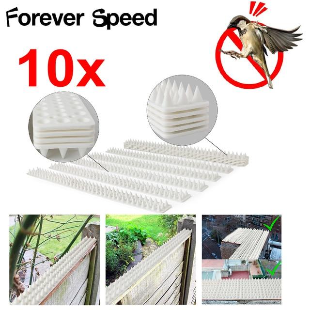 10Pcs Bird Repeller 49Cm Environmentally  Plastics Pp Pigeon Nails Anti-Bird Anti-Dove Pest Control Pikes Harmless To Animal