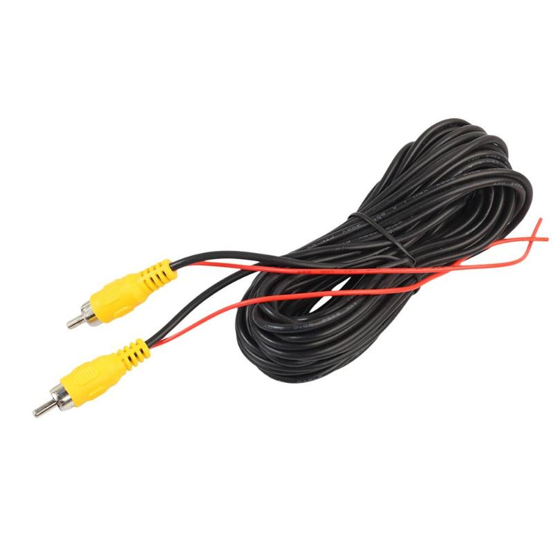 6m Car RCA CAR Reverse Rear View Parking Camera Video Cable With Video Trigger Wire Connecting Car Parking Rearview Monitor in Cables Adapters Sockets from Automobiles Motorcycles
