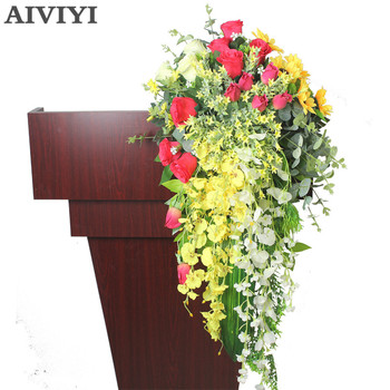 Foreign trade products simulation flower hanging pendent flower DIY front desk conference table flower wall decoration