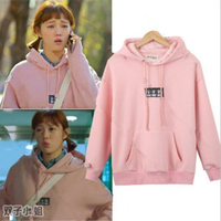 Mainlead Korean Weightlifting Fairy SUNG KYUNG Cap Hoodie Women Pink Sweatershirt