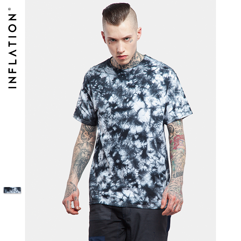 Inflation 2017 latest t shirts men hip hop graphi printing for Tie dye printed shirts