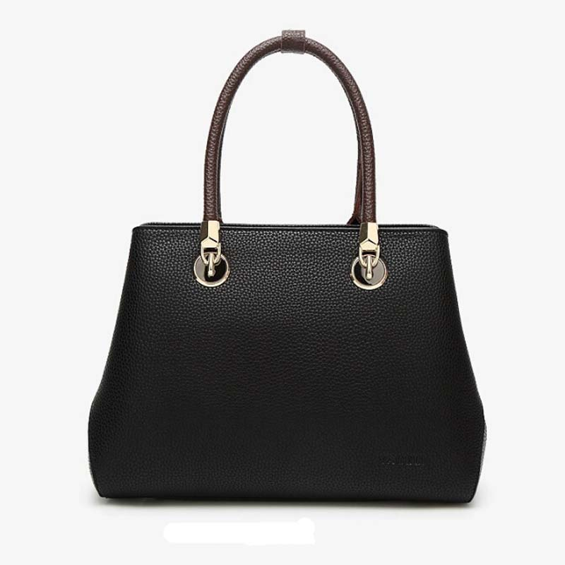Women Fur Handbags 2017 High Quality Women Bags Women PU Leather Shoulder Messenger Bags Sweet Tote Bag Bolsa sweet women s tote bag with color block and pu leather design