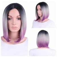 Purple Hair Lace Front Wig Long Straight Synthetic Wigs For Women Heat Friendly New 17July13