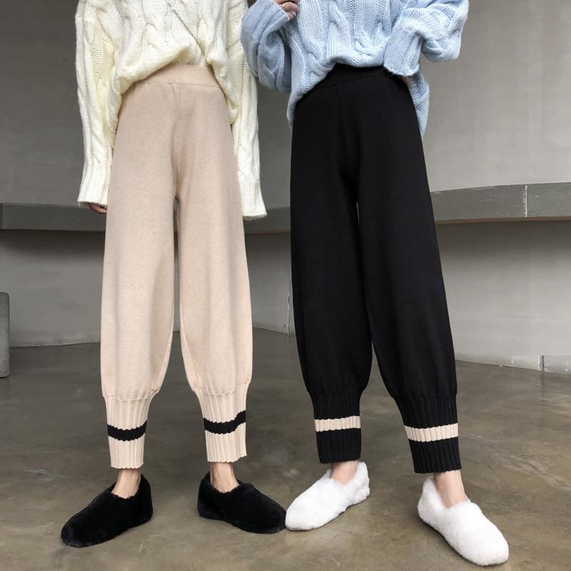 Mihoshop Ulzzang Korean Korea Women Fashion Clothing Spring High Waist Cool Punk Street   Wide     Leg     Pants