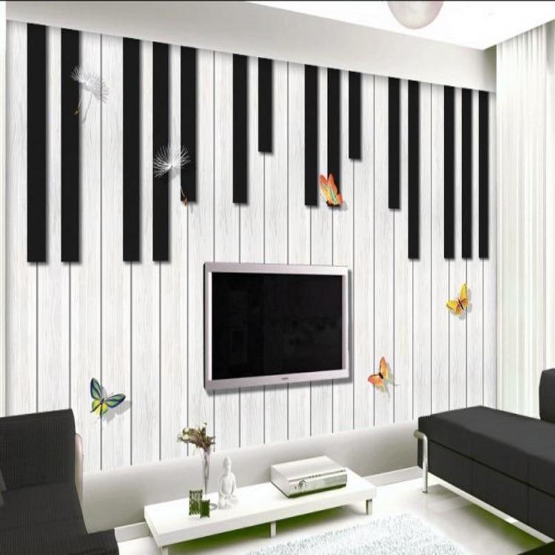 Custom Mural 3D Cartoon Music Notes Large Mural