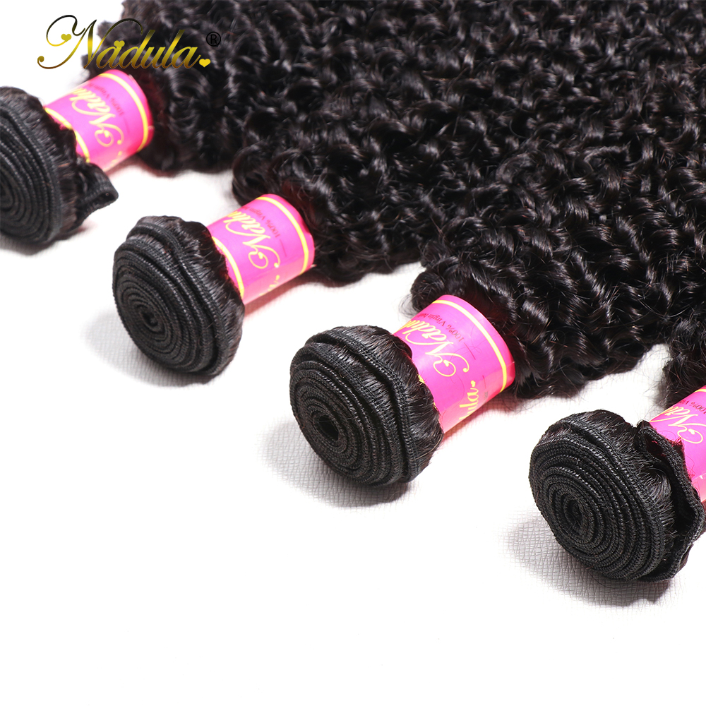 Nadula Hair Kinky Curly Bundles 100%  Bundles 8-26inch  Hair s 1/3/4 Bundles Hair s Natural Color 5