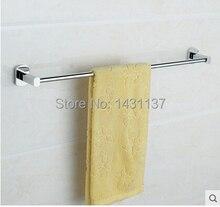 Материал латунь покрытие хром Настенное Крепление 60 см длина одноместный полотенце бар аксессуары для ванной комнаты