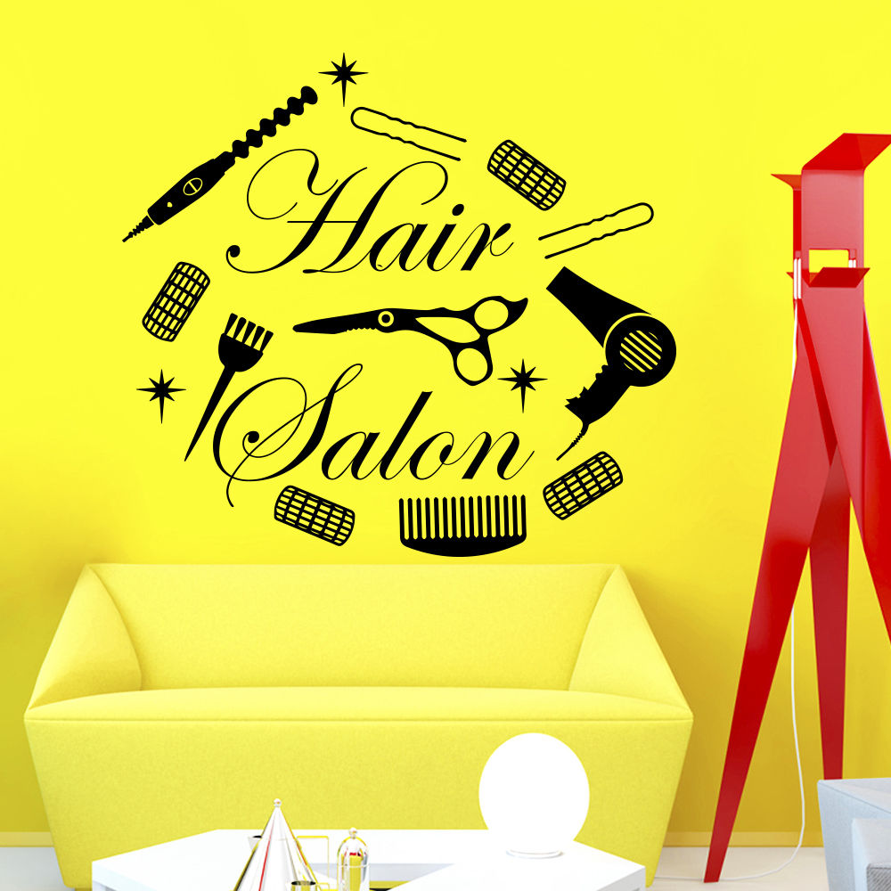 Vinyl Wall Decals Hairdressing Beauty Spa Hair Salon ...
