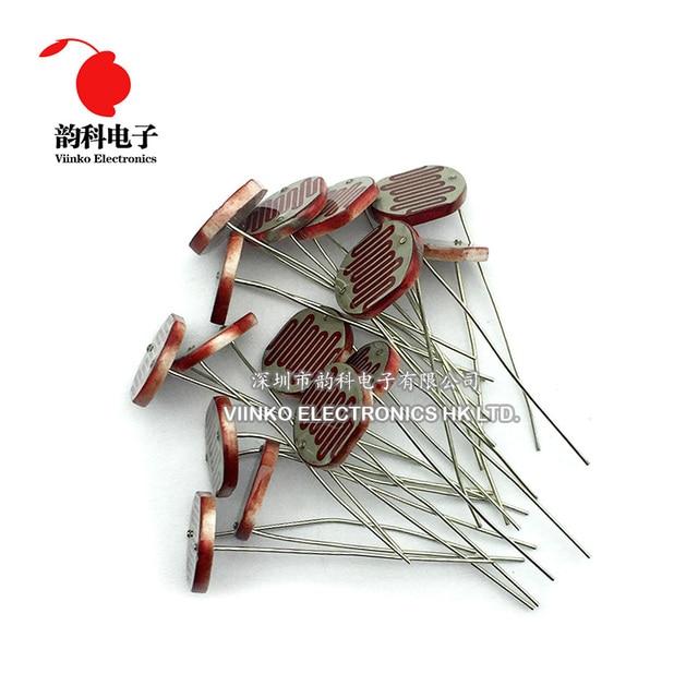 100pcs 12528 Light Dependent Resistor LDR 12MM Photoresistor Photosensitive GL12528 Photoconductive resistance