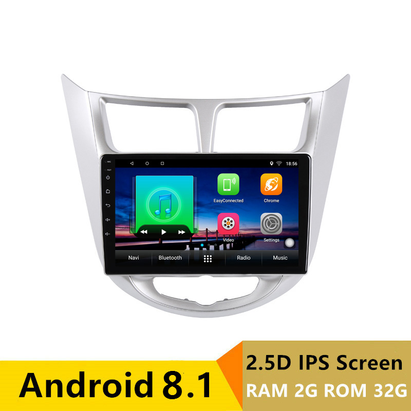 "10.1"" 2G RAM 32G ROM Android Car DVD Video Player GPS For Hyundai Solaris accent Verna i25 audio car radio stereo navigation"