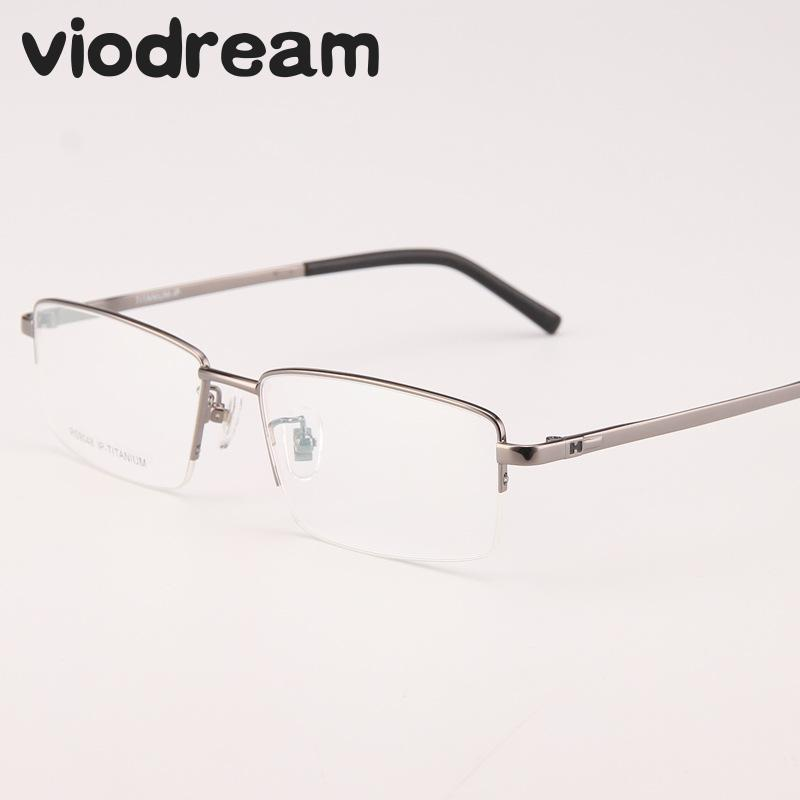 Viodream Business Spectacle Ultra Light Pure Titanium Optical Glasses Frame big Face Prescription Eyewear Eyeglasses Frames