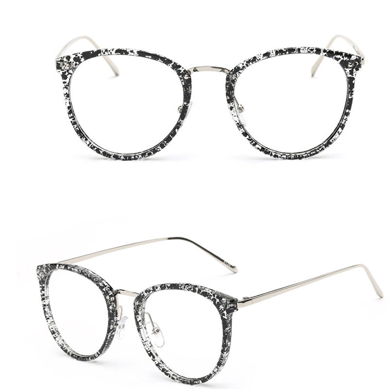 f60a75a486 Vintage Oversized Round Glasses Frame For Women Men Eyeglasses Frames Men  Clear Fake Glasses Eyewear Oculos Optical Frame 8128-in Eyewear Frames from  ...