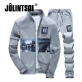 Jolintsai Sportwear Suit Men 2017 Plus Size XXXXL Hoodies&Sweatershirts Tracksuit Men Set Printing Polo Sweat Homme Suit