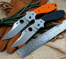 New Two options EDC Tool C190 Ed Schempp Bowie Pocket Knife Plain Edge G10 handle C190CFP 9Cr Steel Blade for Camping Hunting