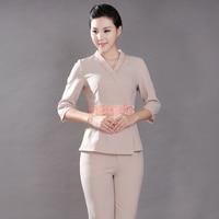 Beauty salon health care shop work clothes Thai massage technician uniform large size SPA clothes