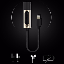 2 in 1 Earphone Audio+Charging Adapter For Lightning iPhone 7 7 Plus to 3.5 mm Headphone Jack Cable w/ Volume Adjustment  Button