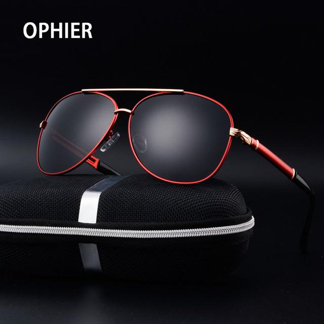 OPHIER Алюминиево-Магниевый Марка Дизайнер Мужчины Поляризованных Солнцезащитных очков Мужчины Вождения Зеркало Солнцезащитные Очки Óculos Очки Аксессуары