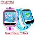 2017 gps smart watch q750 q100 baby watch con wifi 1.54 pulgadas pantalla táctil SOSCall Ubicación Tracker Dispositivo de Seguros para Niños PKQ50 Q80