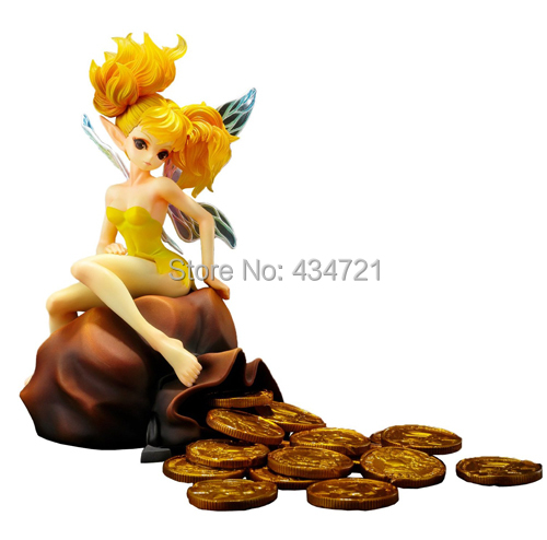 Hot RPG Game Dragon's Crown Adventure Result Vertex Dwell Gold Coin ELF TIKI 11 Scale 6.5 Action Figure Toys