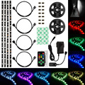 DUMVOIN 4pcs * LED Strip 0.4M 12LED SMD5050 RGB Color IP65 Waterproof + 20-Key Mini Remote Controller + DC 12V 1.5A Power Supply