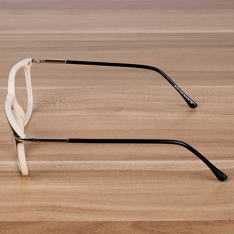 Nossa Wanita & Pria Elegan Asetat Kacamata Siswa Optik Kacamata Bingkai Biru Putih Tontonan Frame Bening Lensa Kacamata