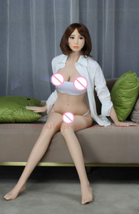 Image 5 - Real sex dolls for male 148cm/158cm/165cm Lifelike Size of life full silicone with metal skeleton sex doll with Oral ass vagina