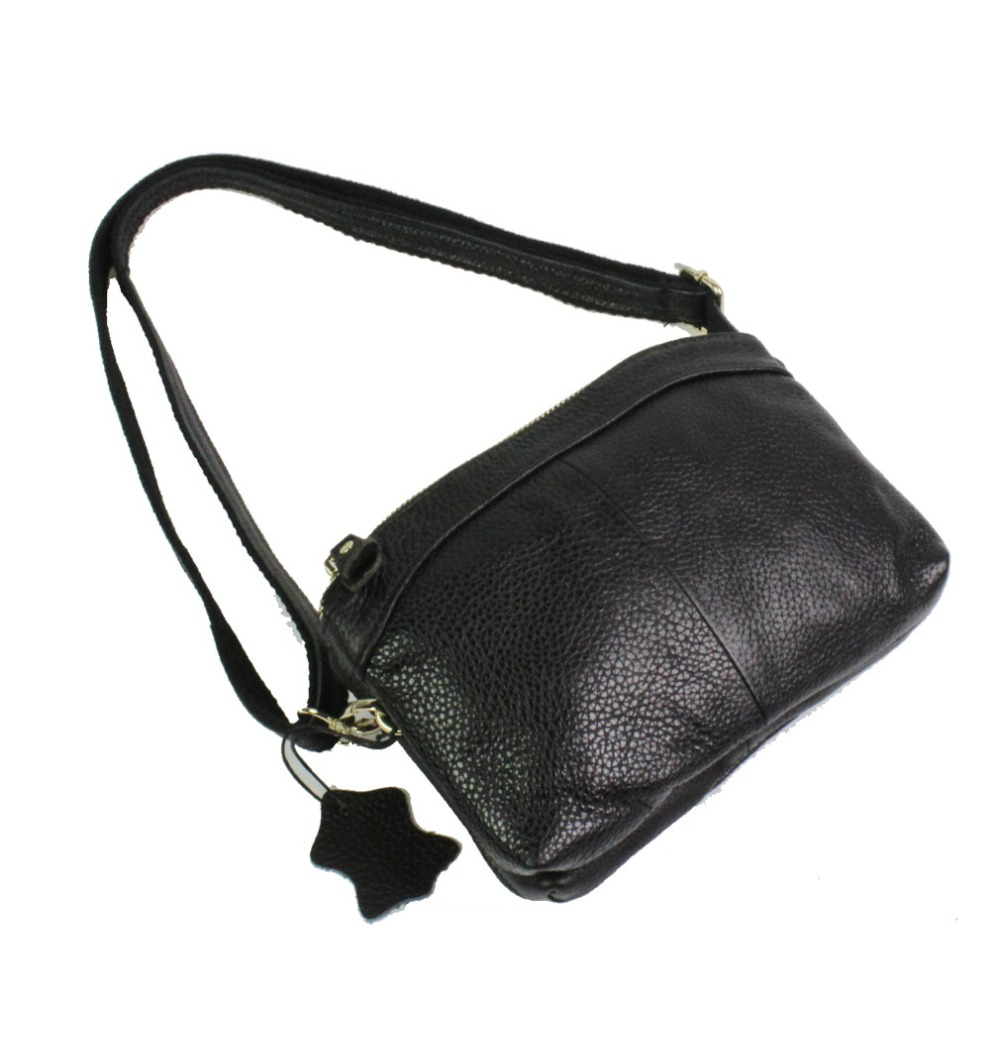 Women Genuine Real Leather Cowhide Fashion Clutch Bag handbags Cross Body Should
