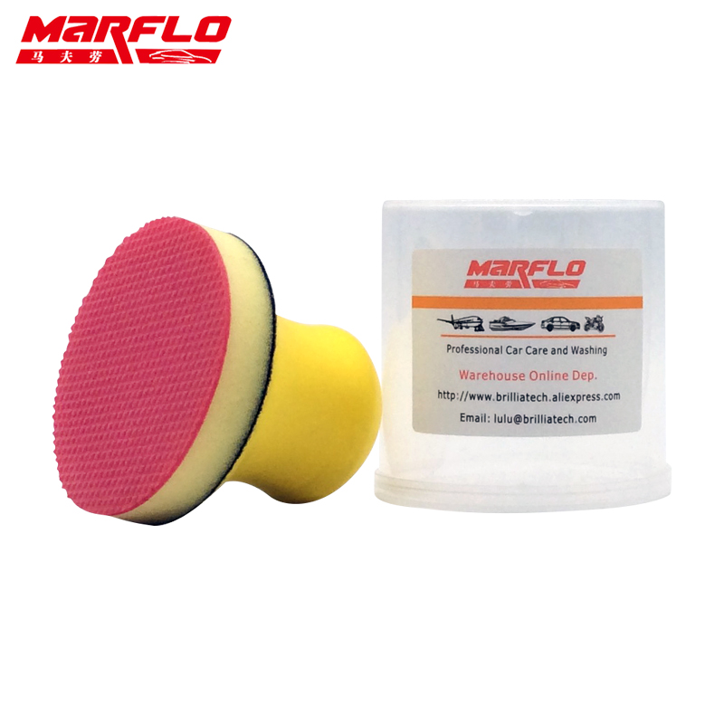 Marflo Car Wash Magic Clay Sponge Pad for Car Wash Maintenance Sponge Cloth Brush Applicator Cleaning Holder ...