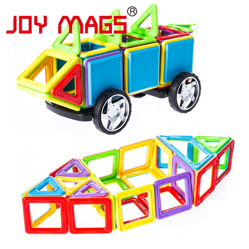 JOY MAGS Big Size Magnetic Designer 38/88 Pcs Building Models Toy Enlighten Plastic Model Kits Educational Toys For Toddlers
