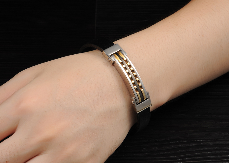 New 2017 Fashion Leather Bracelet Men,Simple Trendy Boy Cool Bracelets Bangles,Charm Braclet for Women Men Jewelry Free Shipping