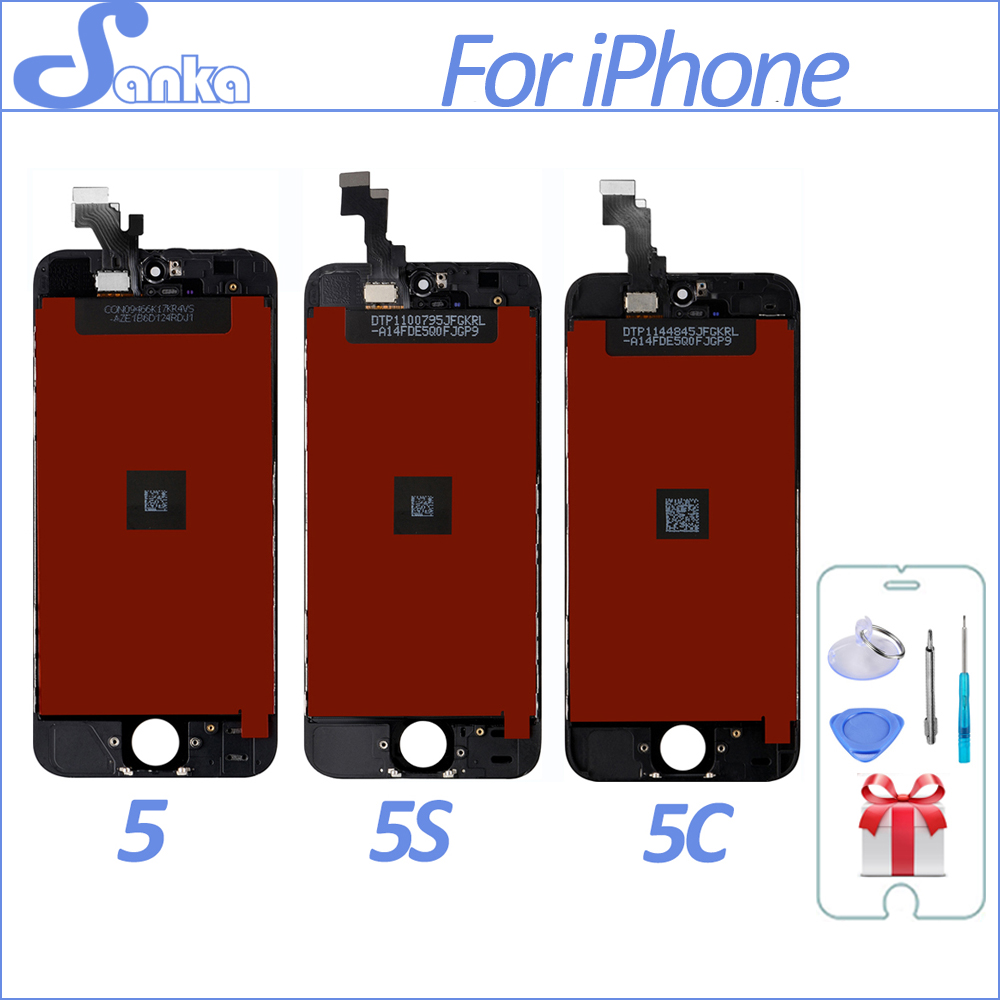 SANKA for iPhone 5S 5C 5 LCD Screen Display Touch Screen Replacement Digitizer Ecran Pantalla LCD Assembly Black & White Tools