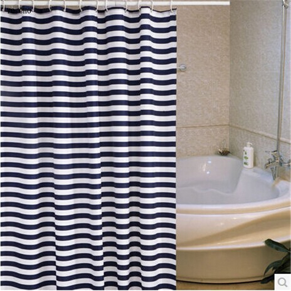 shower curtain shower environmentally friendly. [200cm High ] Navy Blue Bathroom Shower Curtain Mildew Thick Metal Eye Eco Friendly Waterproof Curtain-in Curtains From Home \u0026 Garden On Environmentally E