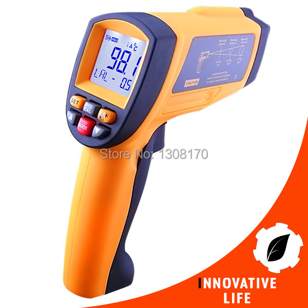 Digital Professional 50:1  Non-contract IR Infrared Laser Thermometer 0.1~1EM Pyrometer Industrial Tester thesocial contract