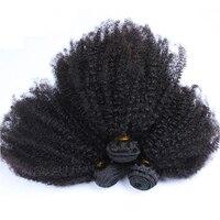 Mongolian Afro Kinky Curly Hair Weave 4B 4C Natural Black Raw Virgin Human Hair Bundles Extension 3 Hair Products Venvee 10 26