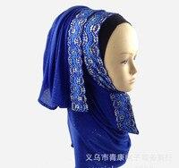 أزياء المرأة الترتر وشاح عالية الجودة الإندونيسية التركية مسلم الحجاب للنساء بلينغ غطاء الرأس الفتاة 11 ألوان