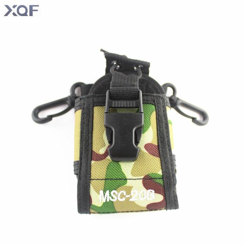 imágenes para Xqf msc-20b camuflaje caso titular para icom radio portátil baofeng uv-5r/5re/5ra plus tyt th-f8 + yaesu/vextex con el envío libre