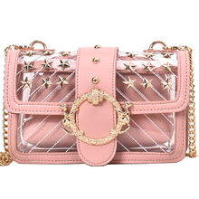 f8c6cdbc476e 2019 летние заклепки Пляжная сумка для Для женщин прозрачная сумка из ПВХ  желтый Обнаженная розовый мешочек. Доступно цветов: 4