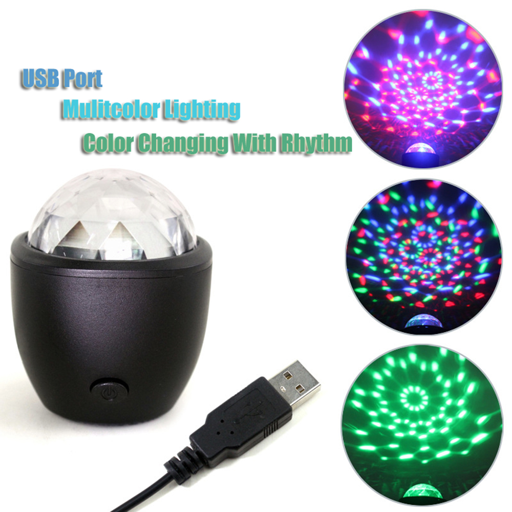 Mini Stage Light LED 3W USB Powered Sound Actived Multicolor Disco Ball effect lamp for birthday Party Concert DropshippingMini Stage Light LED 3W USB Powered Sound Actived Multicolor Disco Ball effect lamp for birthday Party Concert Dropshipping