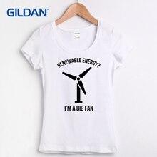 7199e12e8 Rendering Women's T-shirt Fashion Femme Tee HipHop Renewable Energy Euro  Size S-XL T-shirt for Women O Neck Fitness 100% Cotton