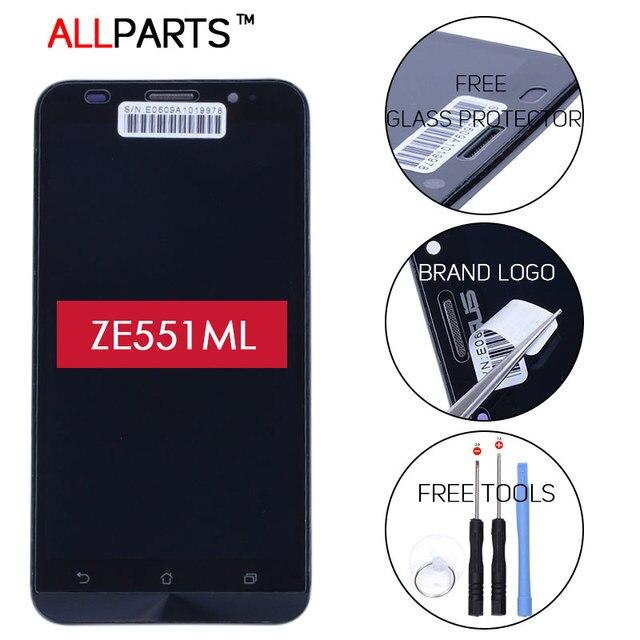 100% Испытанное в Исходном 5.5 ДЮЙМОВ 1920x1080 Экран Для ASUS Zenfone 2 ZE551ML Дисплей Сенсорный ЖК-Экран Digitizer Ассамблеи с Рамкой