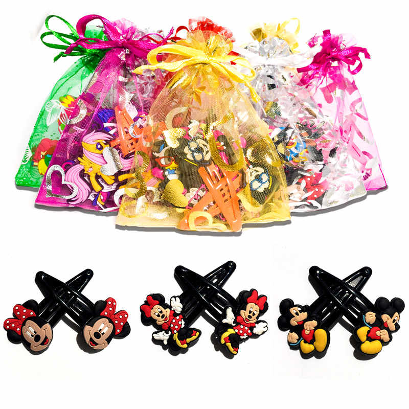 1pair/lot Cartoon Mickey Minnie Novelty Hairpins Baby Girls  Hair Clips Kids Hairgrips Headwear Accessories Kids gifts