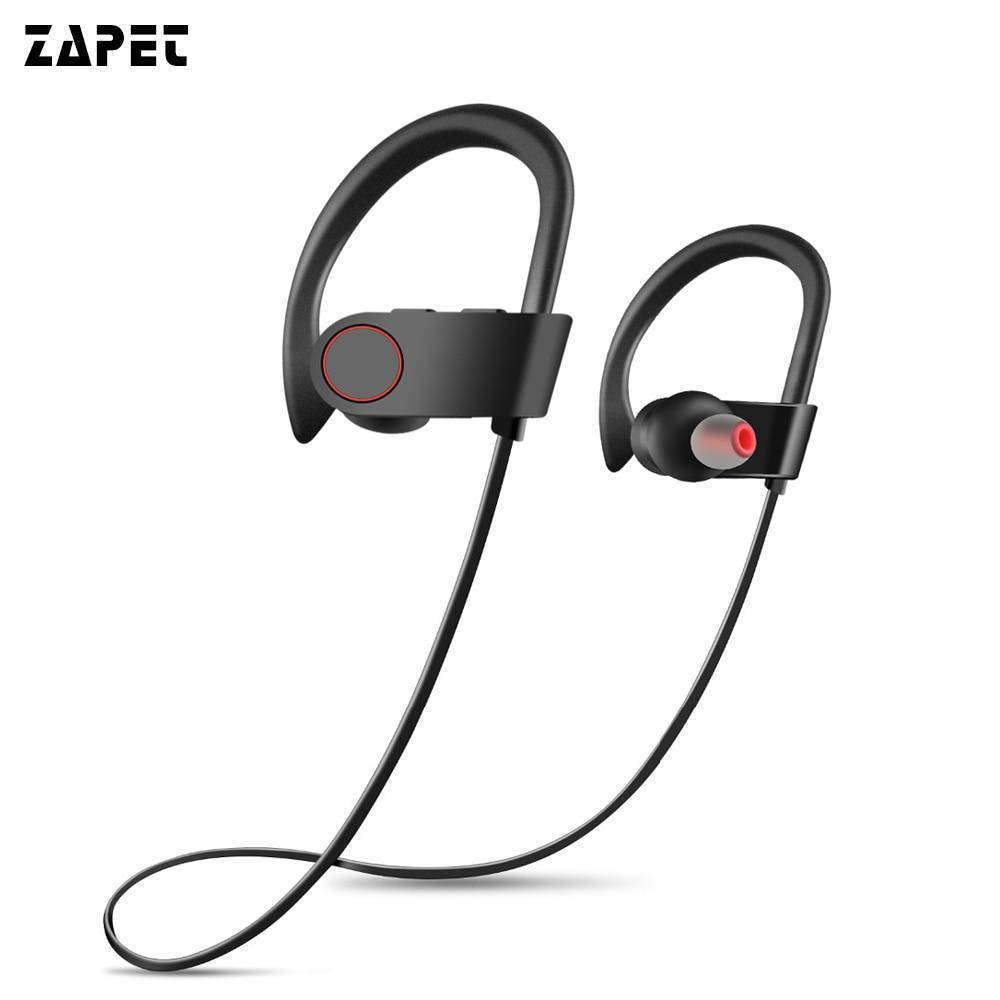 ZAPET F2 Bluetooth Sports Headset Earhook Sweatproof Wireless Bluetooth Earphones Noise Cancelling Earphone with microphone mf2300 f2