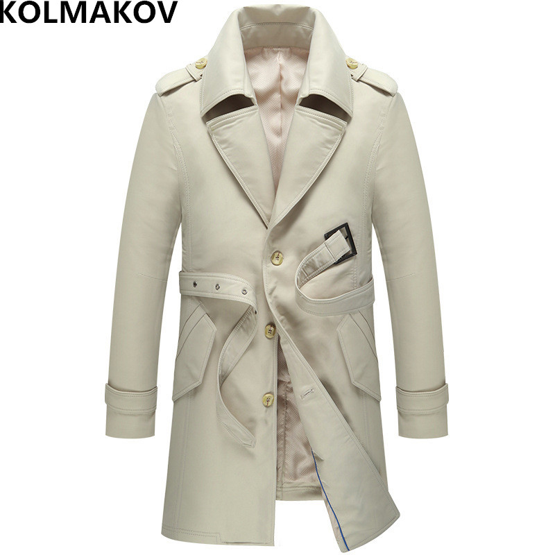 Kolmakov New Autumn Men S Trench Coats With Sashes 2018 Brand Mens