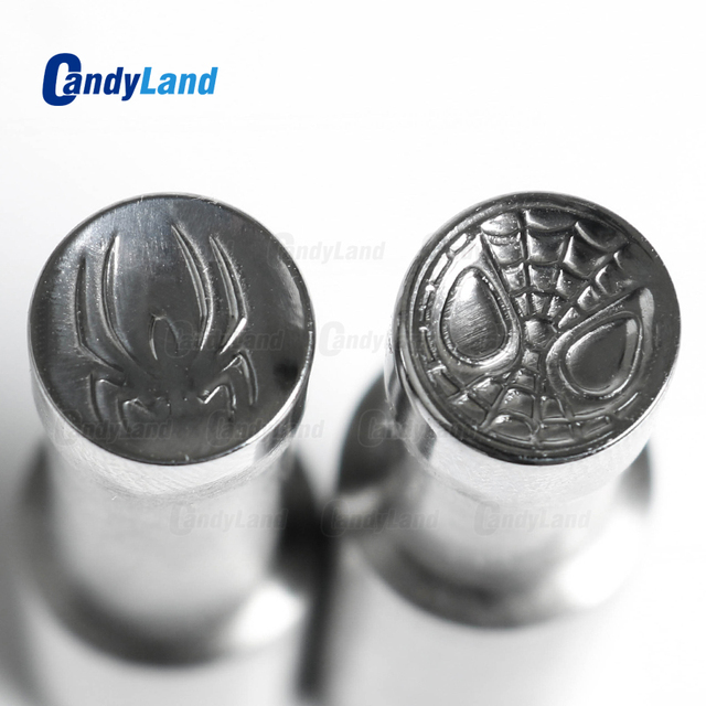 CandyLand SpiderM Milk Tablet Die 3D Pill Press Mold Candy Punching Die Custom Logo Calcium Tablet Punch Die For TDP5 Machine